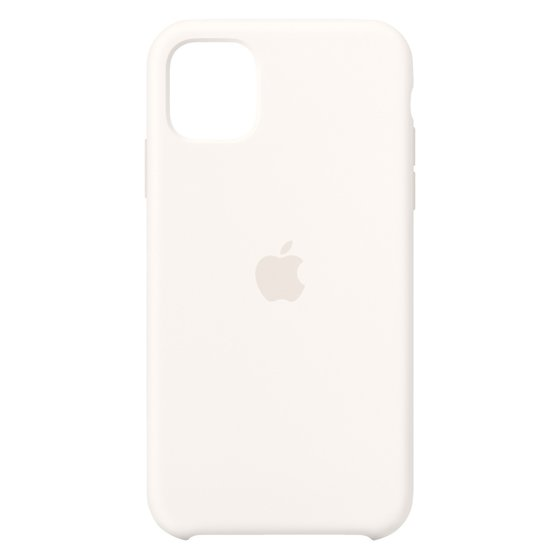 Apple Silikon Case (iPhone 11) weiß