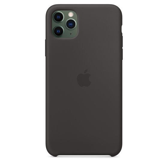 Apple Silikon Case (iPhone 11 Pro Max) schwarz